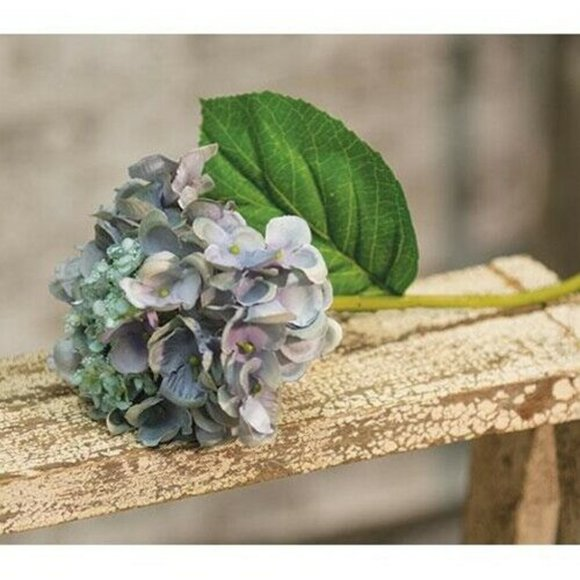 "Other - Blue Hydrangea 9"" Floral Pick Stem"